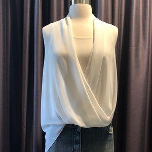 🔹ALLSAINTS  Silk sleeveless asymmetric top